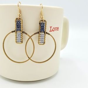 Color block hoop earrings